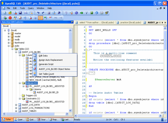 Apex SQL Edit Screenshot 3