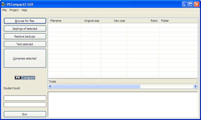 PECompact Screenshot