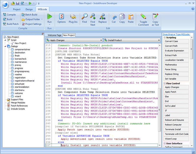 InstallAware Developer for Windows Installer Screenshot