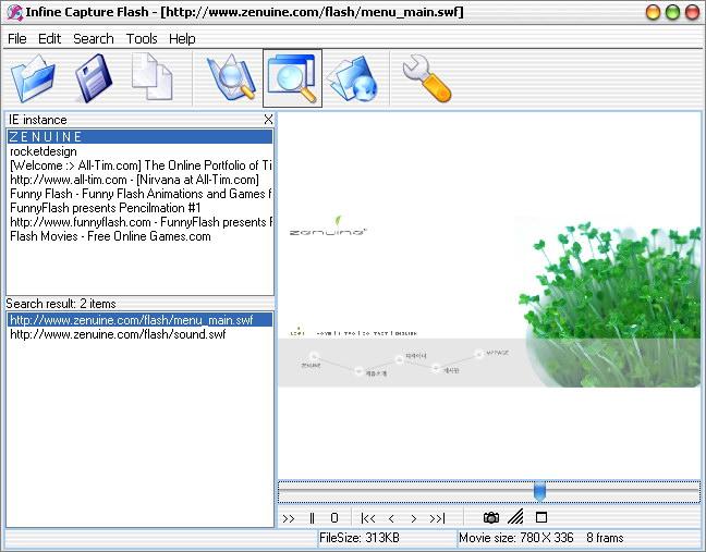 Infine Capture Flash Screenshot 1
