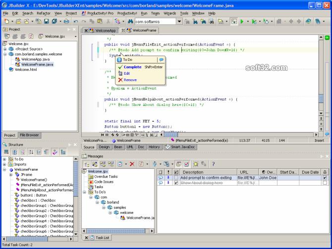 Productivity! Professional for JBuilder Screenshot 2
