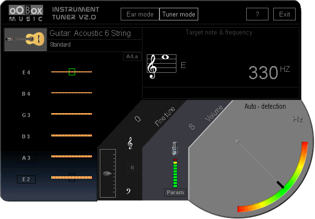 OOBOX iTuner (Guitar Tuner) Screenshot