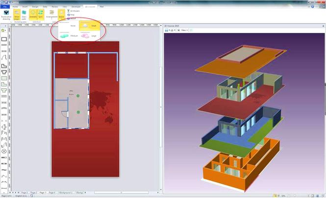3D Visioner - 3D Visualization for Visio Screenshot 2
