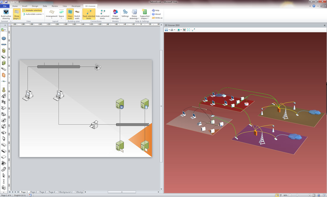 3D Visioner - 3D Visualization for Visio Screenshot 1