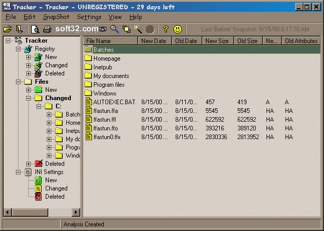 Tracker Screenshot