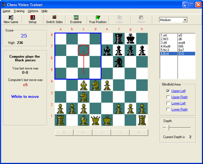 Chess Vision Trainer Screenshot