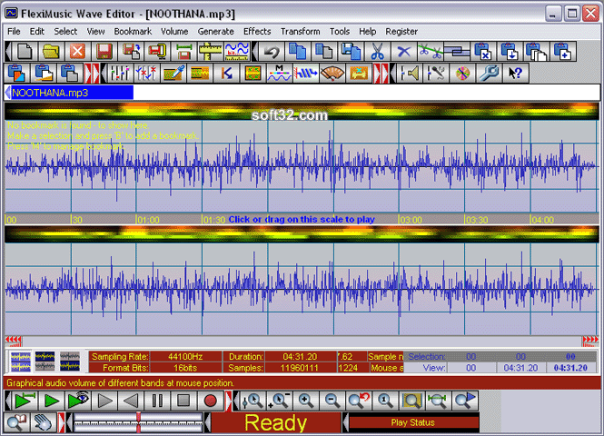FlexiMusic Wave Editor Screenshot 2