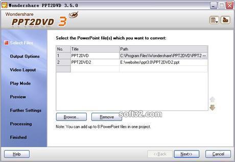 Wondershare PPT2DVD Screenshot 3