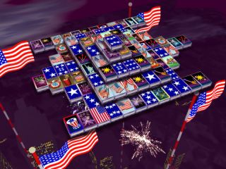 3D Magic Mahjongg - 4th of July Screenshot