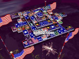 3D Magic Mahjongg - 4th of July Screenshot 3