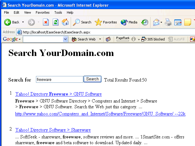 EaseSearch Screenshot