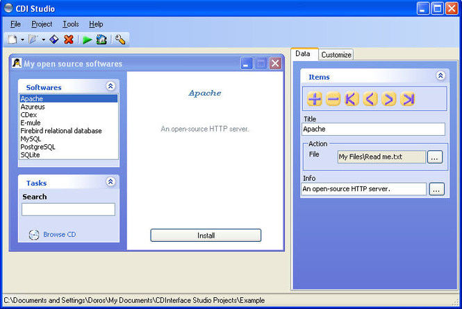 CDInterface Studio Screenshot