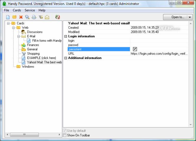 Novosoft Handy Password Screenshot 2