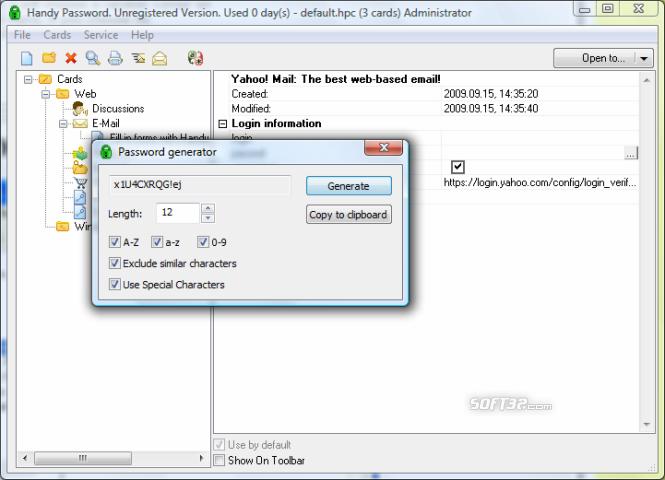 Novosoft Handy Password Screenshot 3