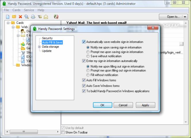 Novosoft Handy Password Screenshot 4