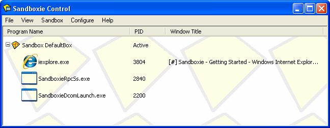 Sandboxie Screenshot