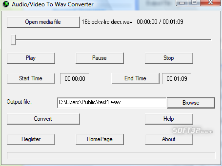 Audio/Video To Wav Converter Screenshot 2