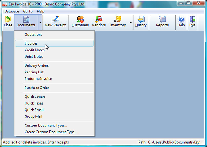 Ezy Invoice Screenshot