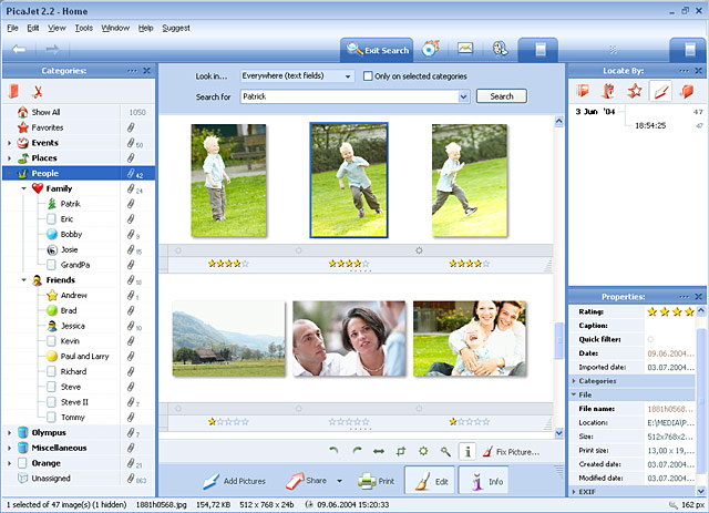 PicaJet Photo Organizer Screenshot