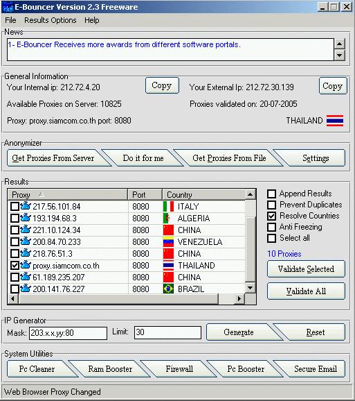 E-Bouncer Screenshot