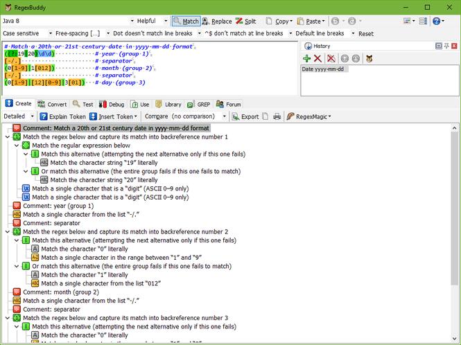 RegexBuddy Screenshot
