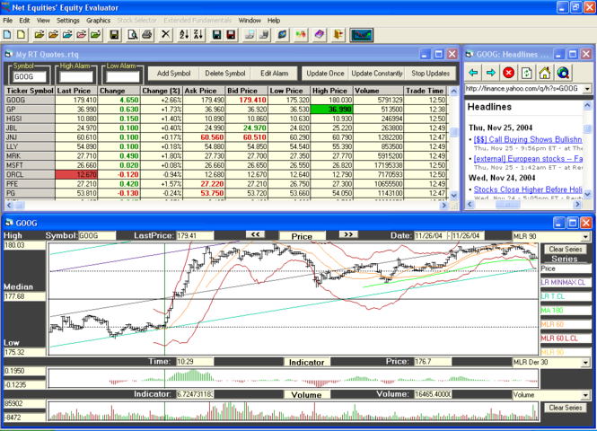 Equity Evaluator Stock Quotes, Analysis, Picks Screenshot