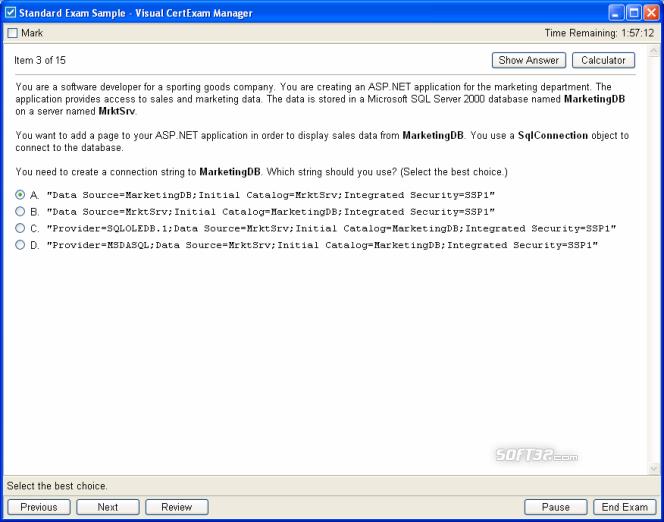Visual CertExam Suite Screenshot 4