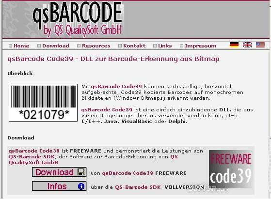 qs Barcode Code39 Reading Screenshot 3