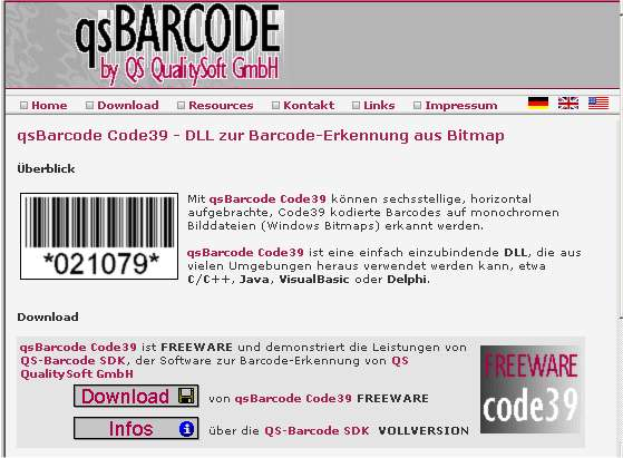 qs Barcode Code39 Reading Screenshot 1