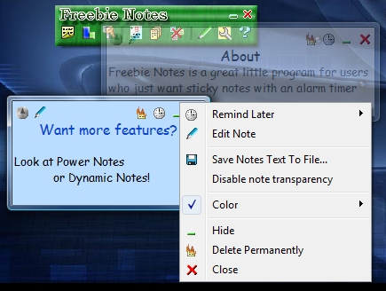 Freebie Notes Screenshot
