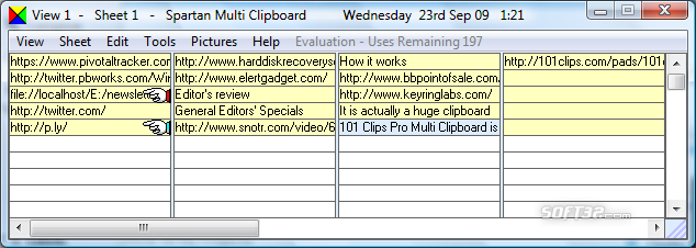 101 Clips Pro. - Multi Clipboard Screenshot