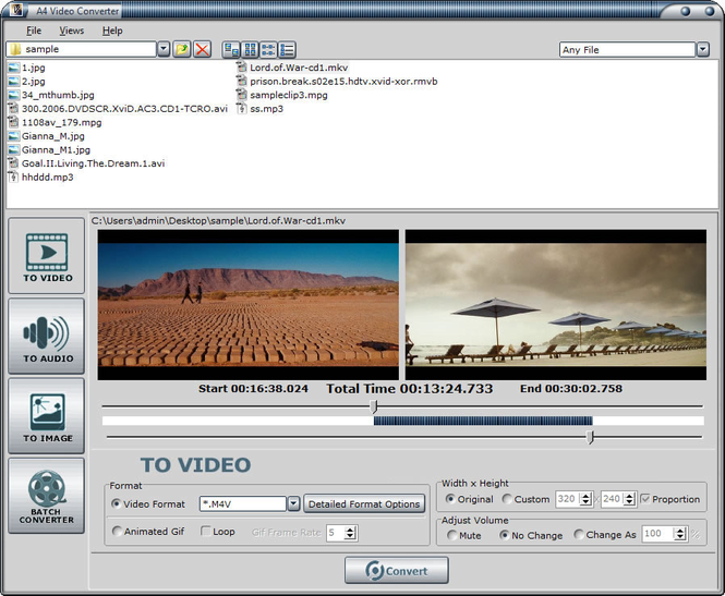 A4 Video Converter Screenshot