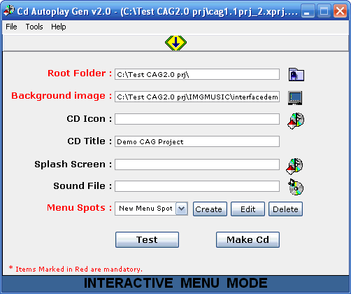 Cd Autoplay Gen Screenshot