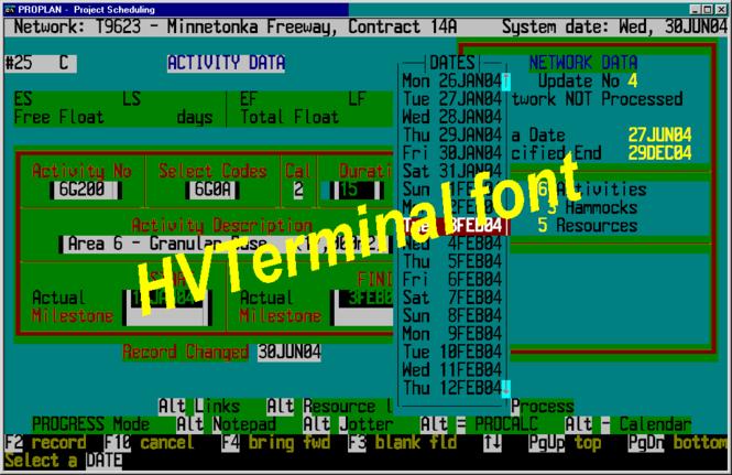 HVTerminal TrueType Terminal Font Screenshot