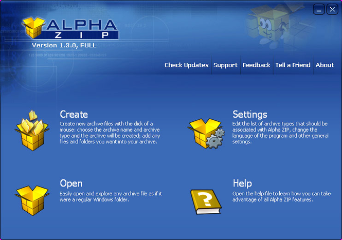 Alpha ZIP Screenshot