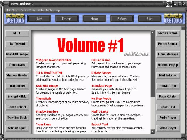 PowerWebTools Screenshot 2