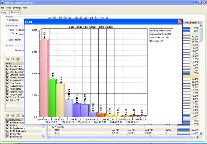 Internet Access Monitor for WinRoute Screenshot