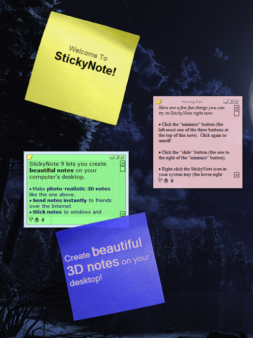 StickyNote Screenshot 1