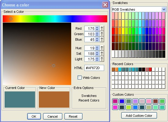 AdvancedColorChooser Screenshot