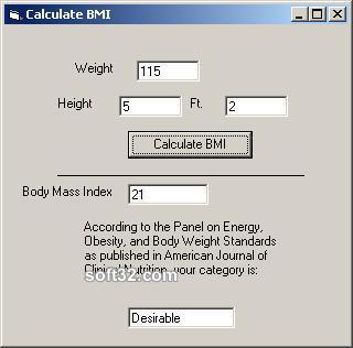 Cialis Body Mass Index Calculator Screenshot 1