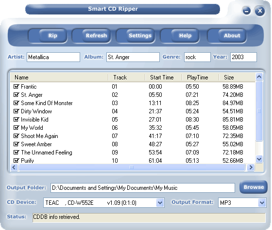 #1 Smart CD Ripper Screenshot