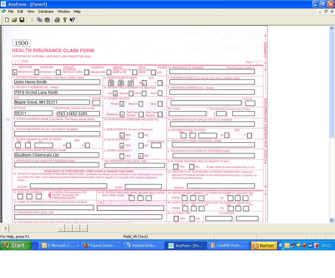 AnyForm Form Software Screenshot