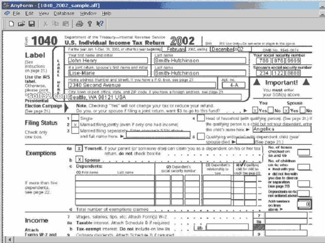 AnyForm Form Software Screenshot 3