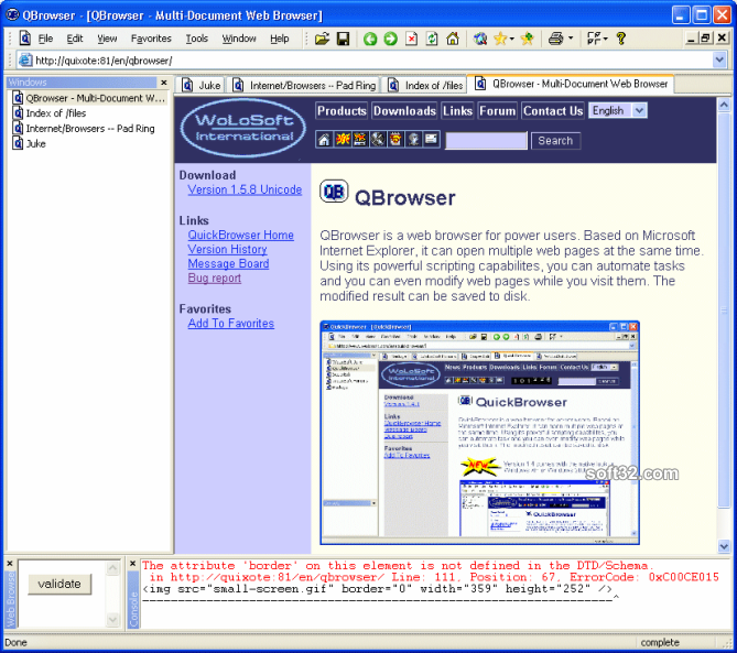 QBrowser Screenshot 3