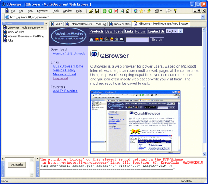 QBrowser Screenshot