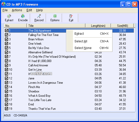 CD to MP3 Freeware Screenshot 3