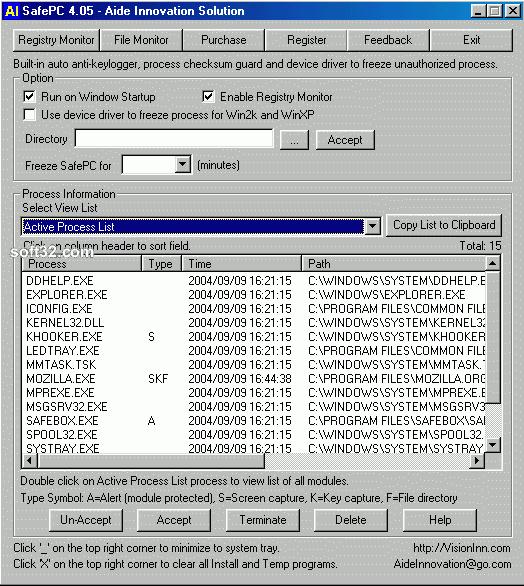 SafePC Screenshot 1