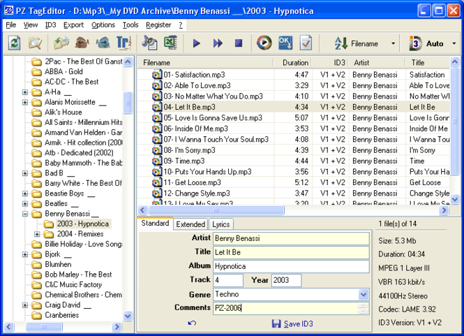 PZ TagEditor Screenshot