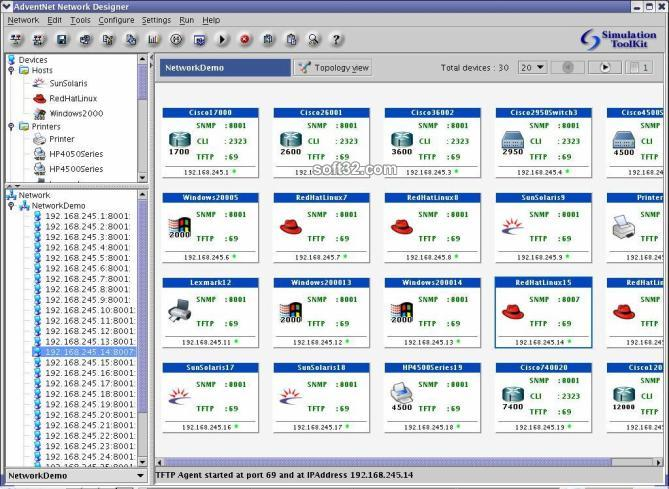 WebNMS Simulation Toolkit Screenshot 2