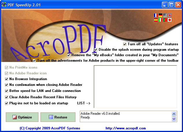 PDF SpeedUp Screenshot